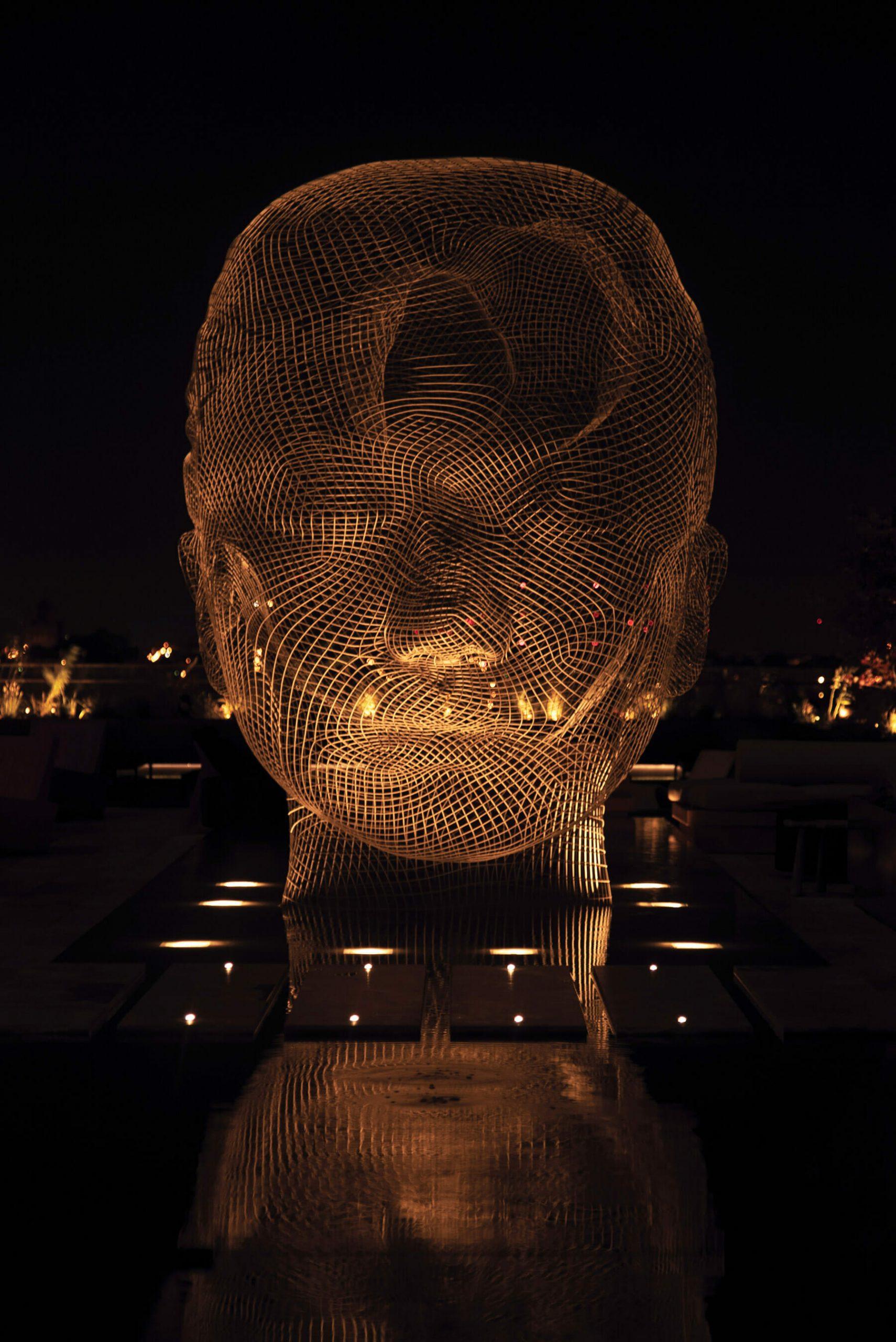 <equinox hotel sculpture