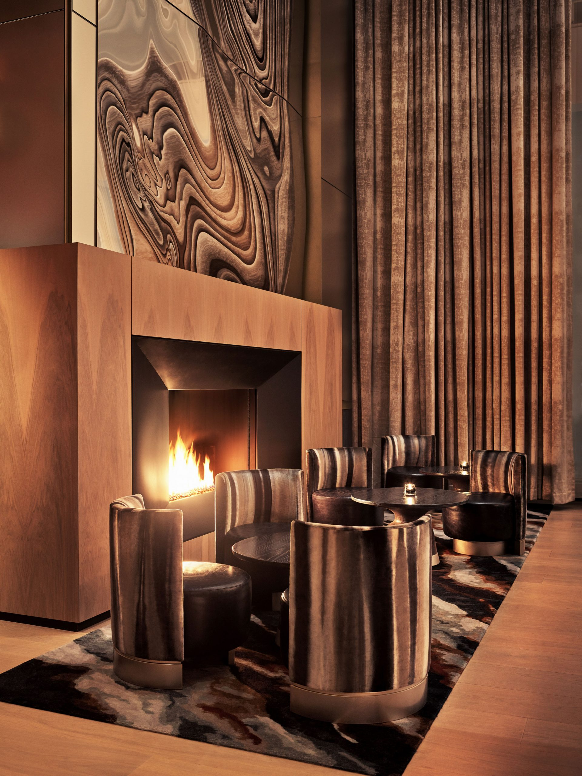 <equinox lounge fireplace