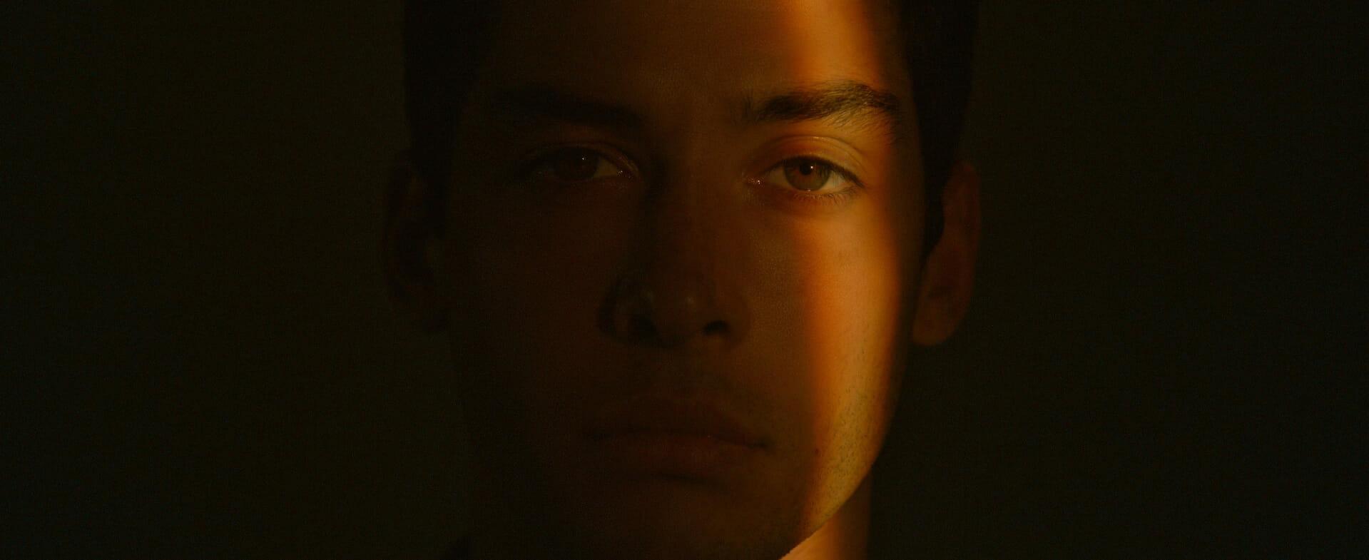 face in light