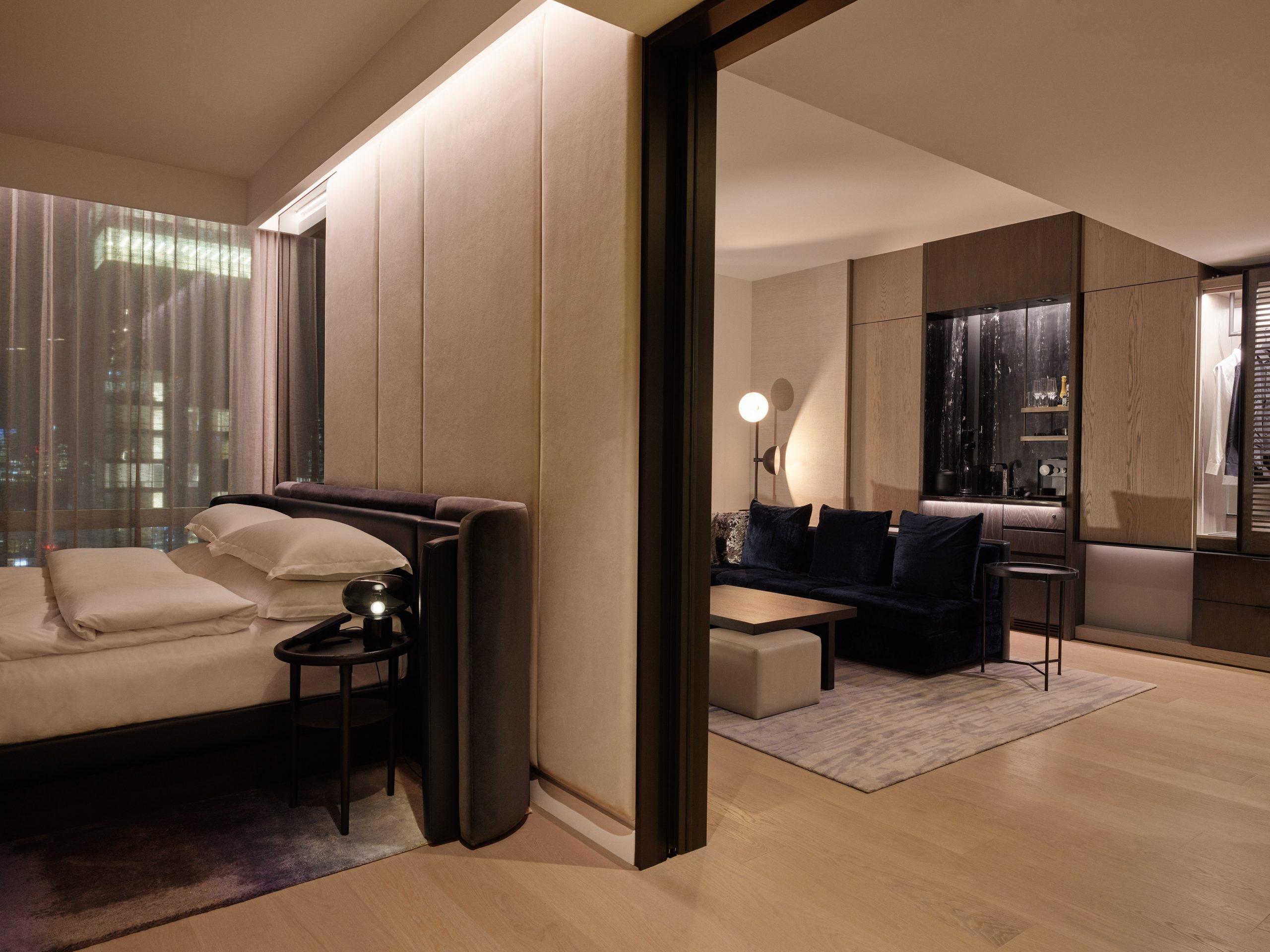 premier suite bedroom living room