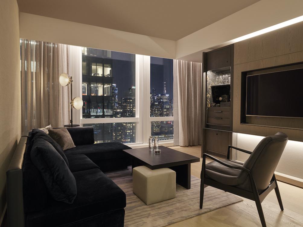 equinox hotel living room