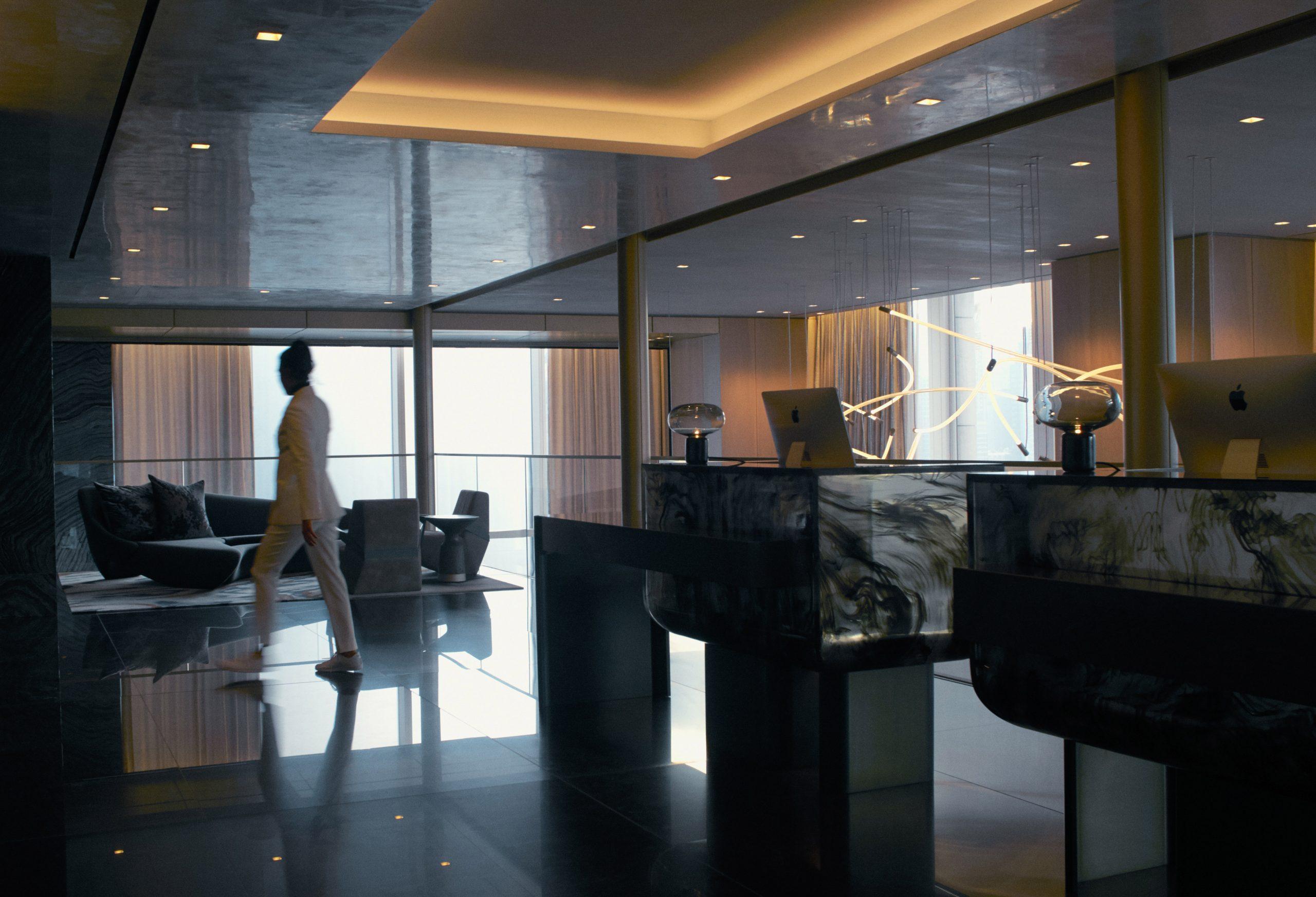 equinox hotel sky lobby
