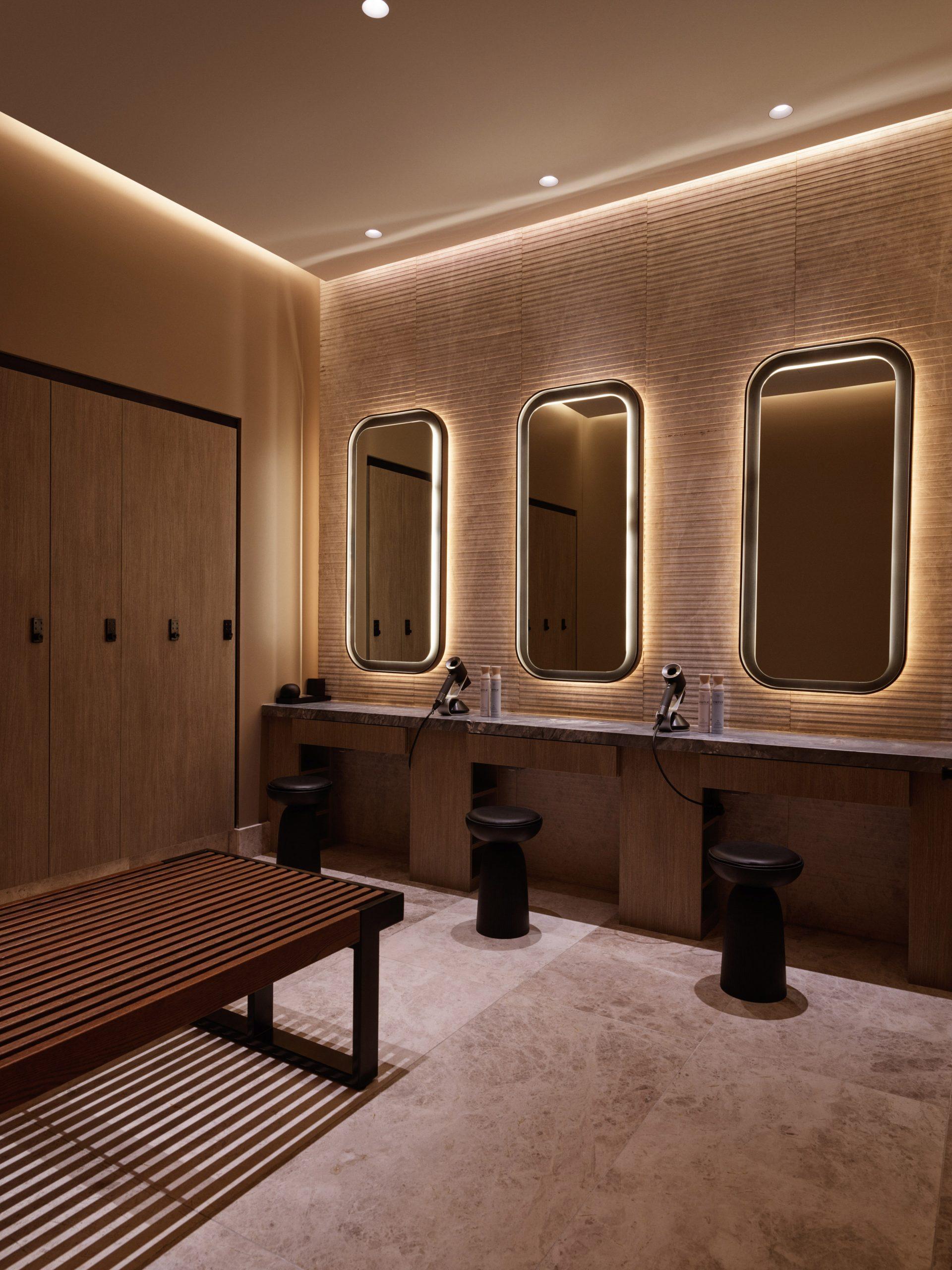 equinox hotel spa locker room